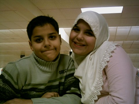 Amina and Mohamed 12 years old